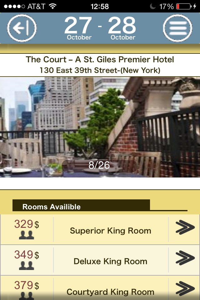 Hotel information and room availibles